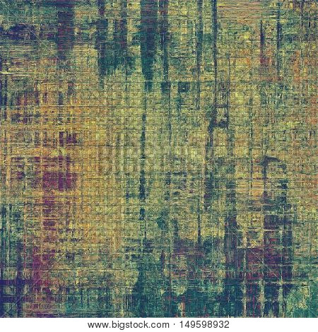 Vintage decorative texture with grunge design elements and different color patterns: yellow (beige); brown; gray; blue; purple (violet)
