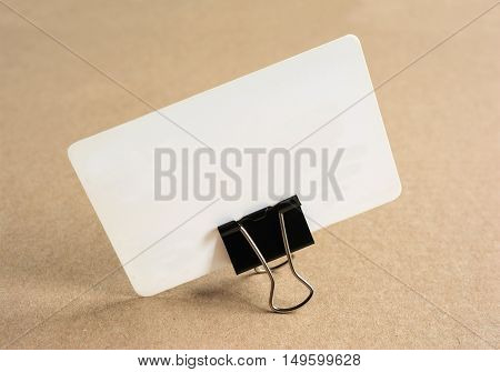 Blank Business Card For Mockup