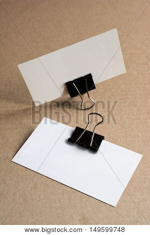 Blank Business Cards For Mockup