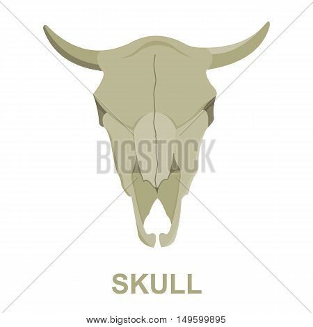 Bull skull icon cartoon. Singe western icon from the wild west collection.