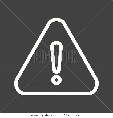Warning, sign, alert icon vector image. Can also be used for software development. Suitable for mobile apps, web apps and print media.