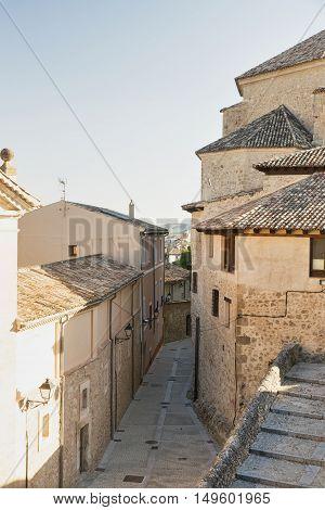Cuenca (Castilla-La Mancha Spain) old street in the medieval part of the city