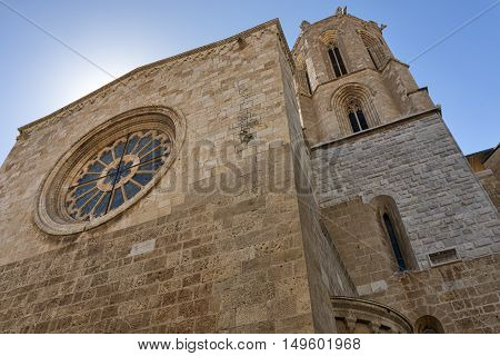 Tarragona (Catalunya Spain): exterior of the gothic cathedral