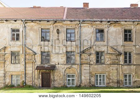 Old abandoned house in Vilnius oldtown, Lithuania