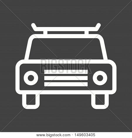 Taxi, cab, yellow icon vector image. Can also be used for travel. Suitable for use on mobile apps, web apps and print media.