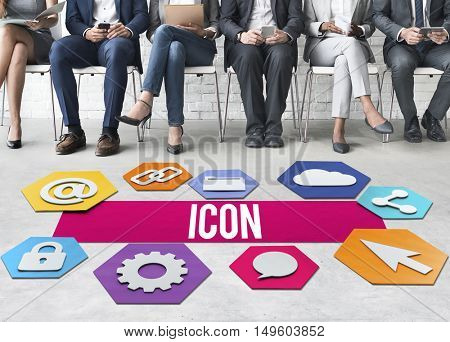Icon Network Technology Graphic Concept