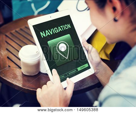 Navigation Destination Location GPS Map Concept