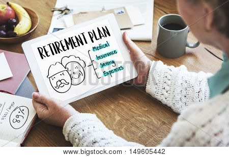 Retirement Plan Senior People Graphic Concept