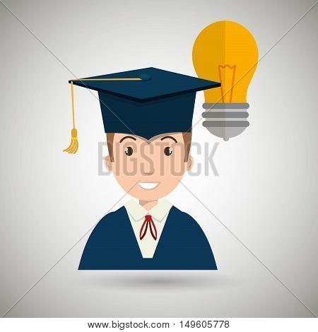 student man graduation education vector illustration eps 10