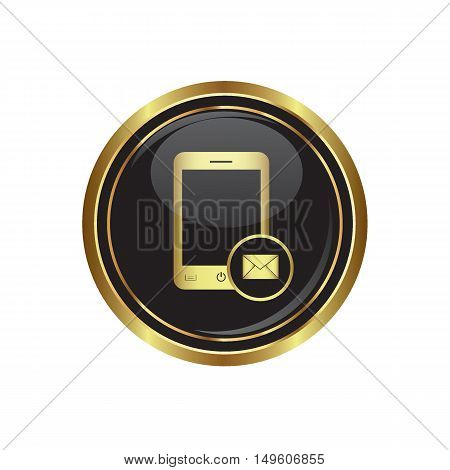 Phone icon with mail menu. Vector illustration