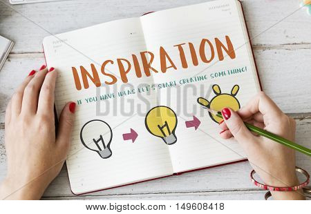 Inspiration Be Creative Design Invention Concept