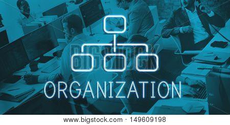 Organization Chart Business Company Concept