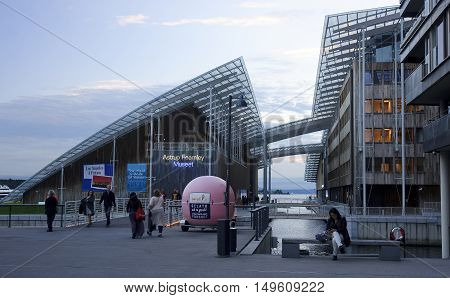 Oslo, Norway - September 16, 2016: Astrup Fearnley Museum On 16