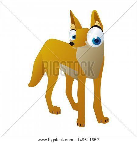 cute vector comic cartoon animal. Cool colorful Jackal