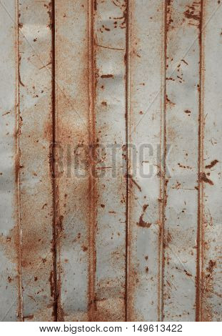 old rusty sheet metal wall. background texture