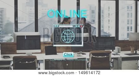 Online Internet Technology Networking Concept