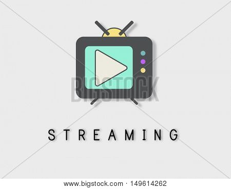 TV Play Button Media Entertainment Graphic Concept