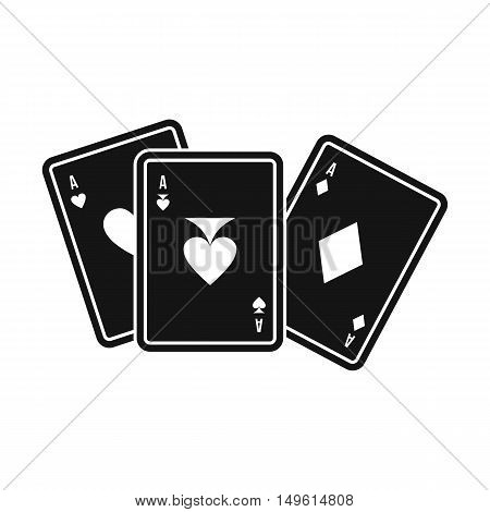 Playing cards icon in simple style on a white background vector illustration