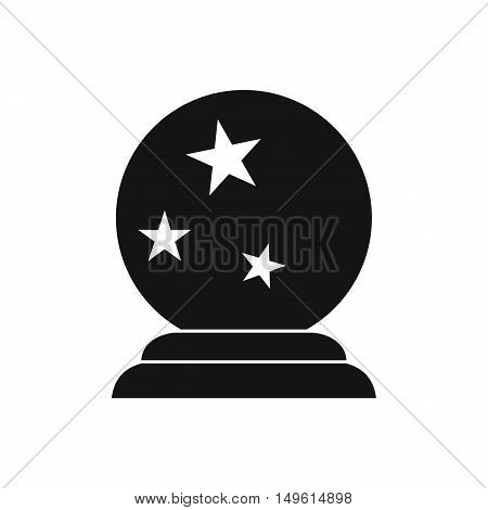 Magic ball icon in simple style on a white background vector illustration