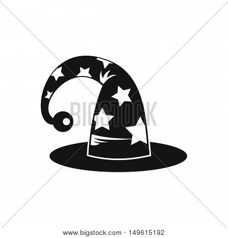 Wizards hat icon in simple style on a white background vector illustration