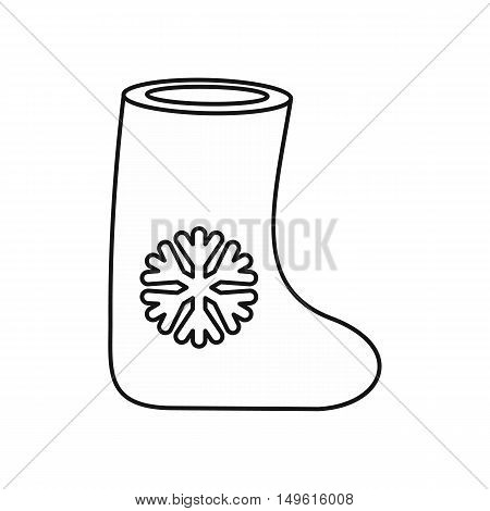 Felt boot icon in outline style on a white background vector illustration