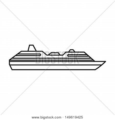 Cruise ship icon in outline style on a white background vector illustration