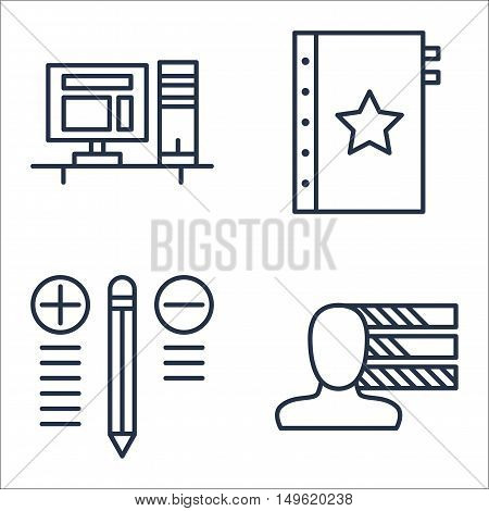 Set Of Project Management Icons On Workspace, Best Solution, Personality And More. Premium Quality E