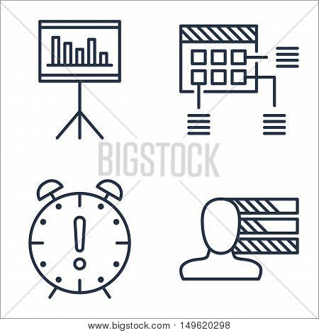 Set Of Project Management Icons On Deadline, Personality, Statistics And More. Premium Quality Eps10