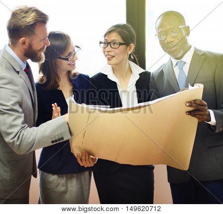 Brainstorming Business Connection Colleagues Concept