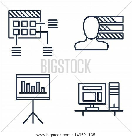 Set Of Project Management Icons On Workspace, Statistics, Personality And More. Premium Quality Eps1