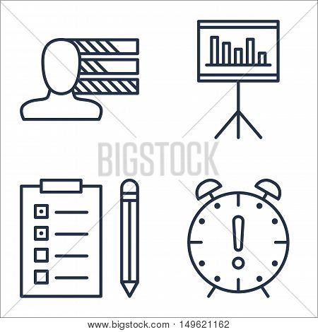 Set Of Project Management Icons On Task List, Personality, Deadline And More. Premium Quality Eps10