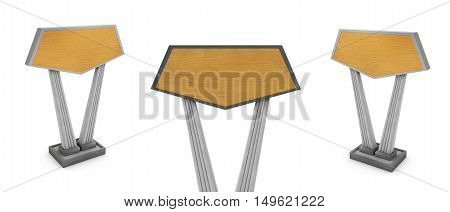 3d render of a wooden bench  single, food, accessory,