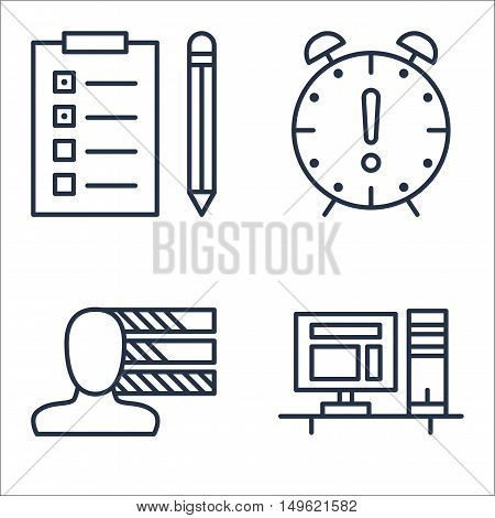 Set Of Project Management Icons On Task List, Deadline, Personality And More. Premium Quality Eps10