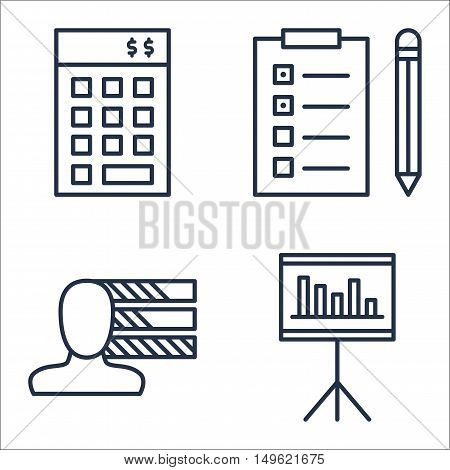 Set Of Project Management Icons On Statistics, Personality, Investment And More. Premium Quality Eps