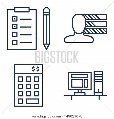 Set Of Project Management Icons On Personality, Task List, Investment And More. Premium Quality Eps1