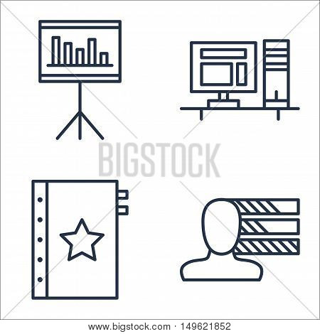 Set Of Project Management Icons On Workspace, Personality, Quality Management And More. Premium Qual