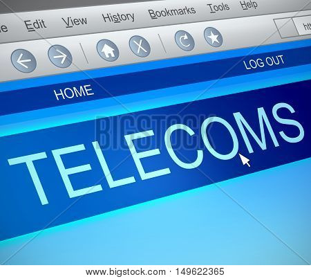 Telecoms Information Concept.