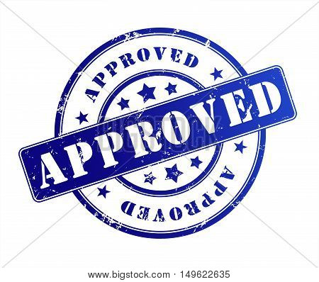 approved rubber stamp illustration isolated on white background