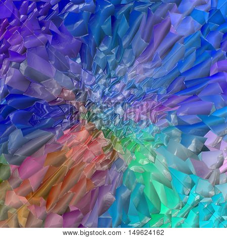 Abstract coloring background of the metals gradient with visual lighting, pinch,wave,mosaic and plastic wrap effects.Good for your project design