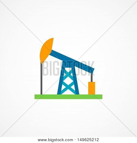 Oil rig icon sign on white background