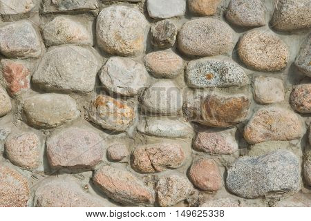 Different Stones In Wall At Background
