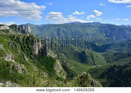 The landscape close to the village of Dolovi near the border between Bosnia and Montenegro.