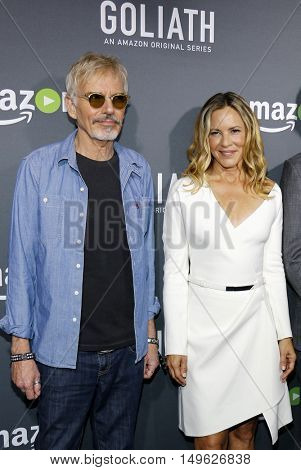 Billy Bob Thornton and Maria Bello at the Los Angeles premiere of Amazon's 'Goliath' held at the London Hotel in West Hollywood, USA on September 29, 2016.
