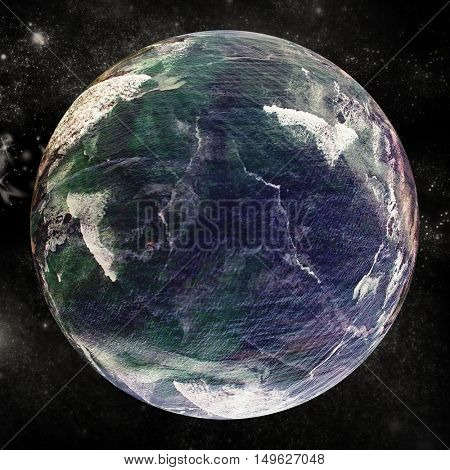 Composite image of globe against white background