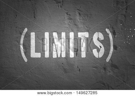 Limits concept word on the dark blackboard
