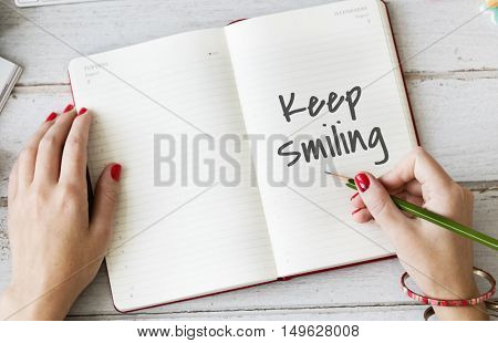 Keep It Simple Smiling Concept
