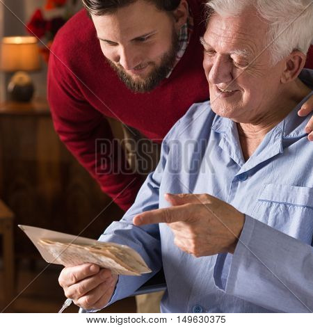 Man Spending Time With Grandchild