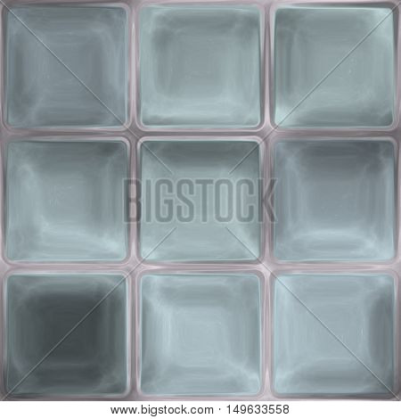 Soft blue grey glass or crystal tiles unique seamless texture