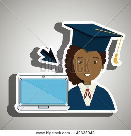 student woman graduation education vector illustration eps 10