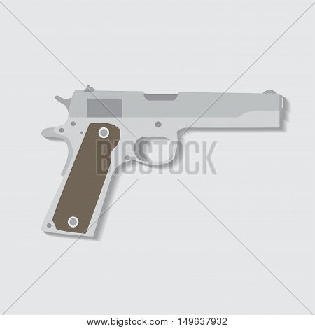 Pistol gun fire security bullet and ammunition protection metal pistol gun.